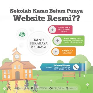 DKC IMNU Surabaya Berbagai Domain, Cloud Hosting, & Google For Education Gratis